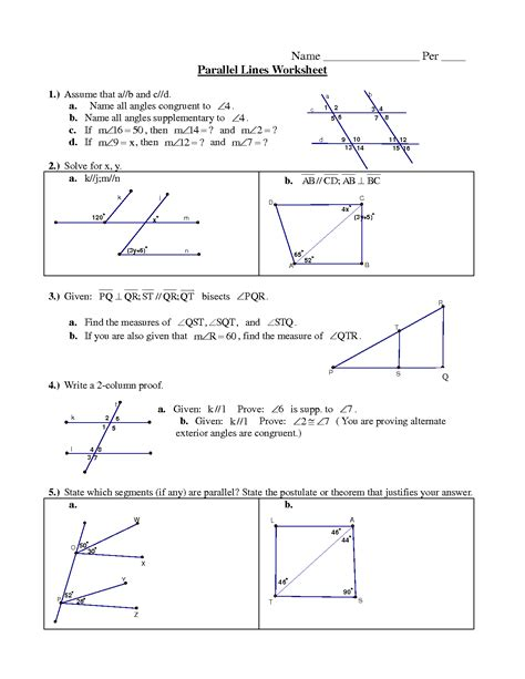 parallel lines worksheet 4th grade