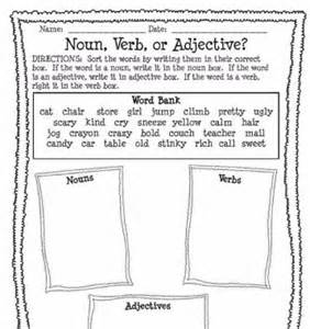 Noun Verb or Adjective Worksheet