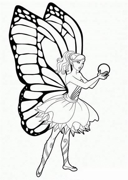 Barbie Mariposa Dibujos Pintar Dibujo Imprimir Colorear