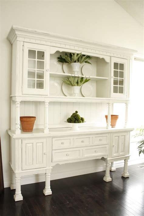 White Kitchen Hutch For Sale - lovables white black gray paint