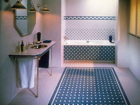 carrelage mosa 239 que pour salle de bain blanc et bleu photo