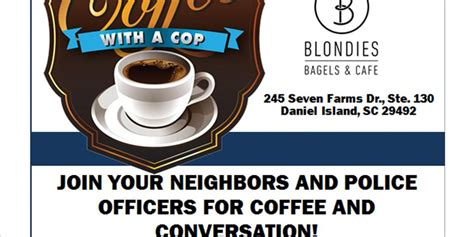 With so many different donut flavours to choose from, we have a little something for everyone including vegan and gluten free options. Coffee with a Cop event to be held on Daniel Island