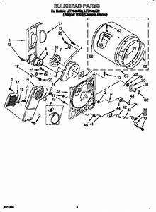 Whirlpool Let7848aq2 Dryer Parts