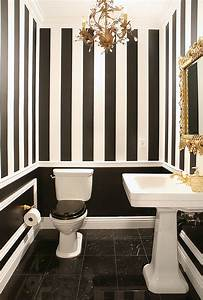 Black and white bathrooms design ideas decor and accessories for Black white and red bathroom decorating ideas