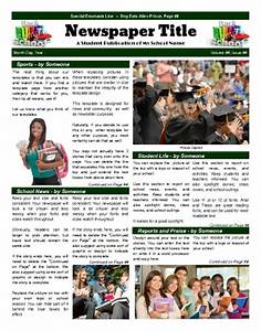 your school newspaper headquarters print and digital With high school newspaper template
