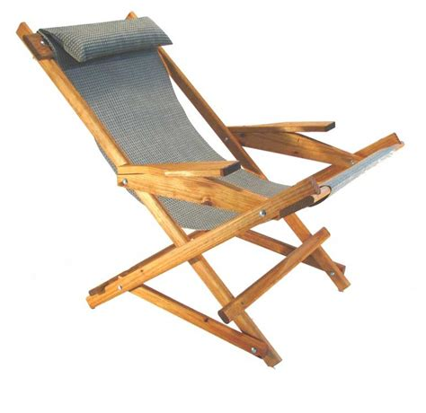wooden folding rocking sling chair pitched staked