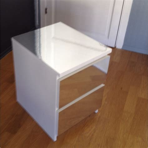 nib ikea malm stand a diy malm dresser nightstand from ikea with mirror foil easy within mirror dresser diy mirror