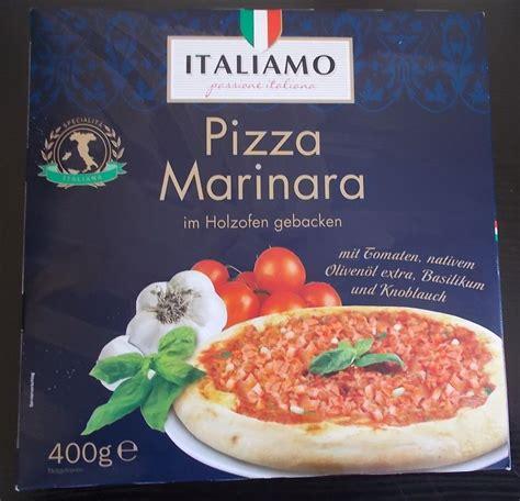 lidl italiamo pizza marinara im holzofen gebacken von