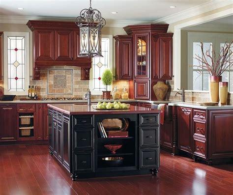 burgundy kitchen cabinets   black island kitchen