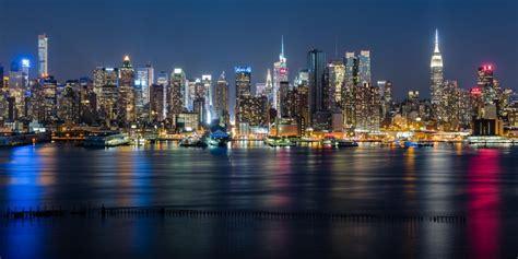 Bild Auf Alu by Quot New York City Uptown Skyline Quot Wandbild Alu Dibond