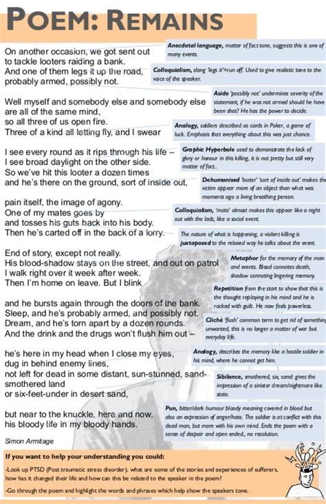 remains analysis english literature notes english