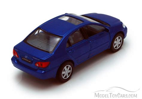 car toy blue toyota corolla blue kinsmart 5099d 1 36 scale diecast