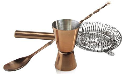 stock your bar copper bar utensil set groupon