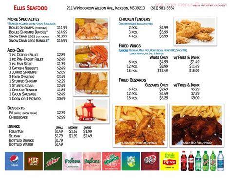 menu  ellis seafood restaurant jackson