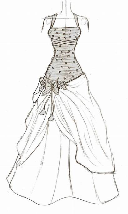 Prom Sketches Drawing Dresses Easy Deviantart Drawings