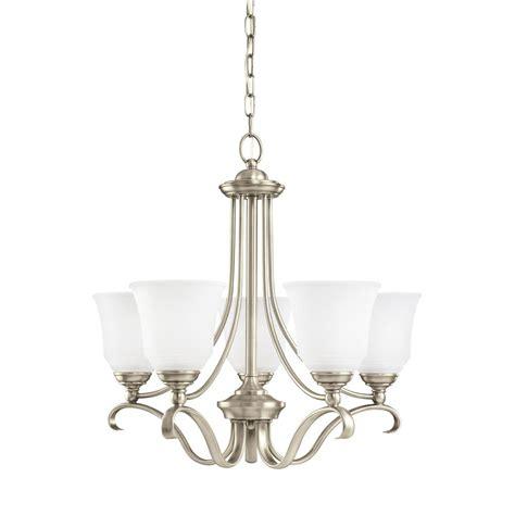 antique nickel chandelier sea gull lighting parkview 5 light antique brushed nickel