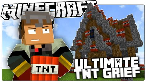 minecraft blow    total tnt house bombover custom map youtube