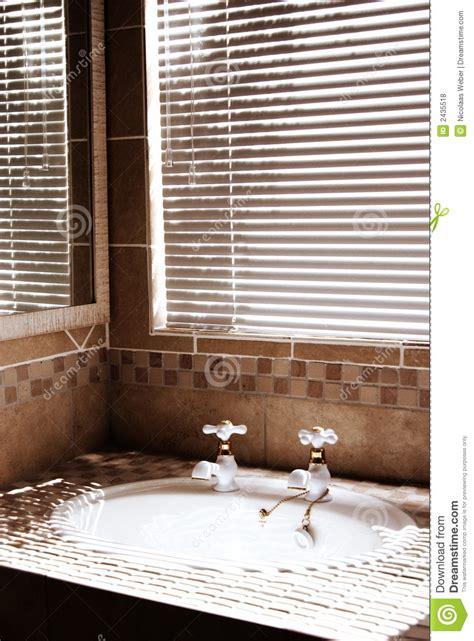 Modern Bathroom Blinds by Modern Bathroom With Blinds Royalty Free Stock Photos