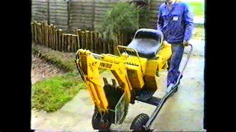 powerfab  mini digger excavator towable backhoe youtube