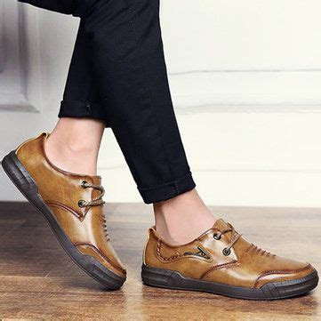 Men Vintage Comfortable Lace Leather Shoes Cipo