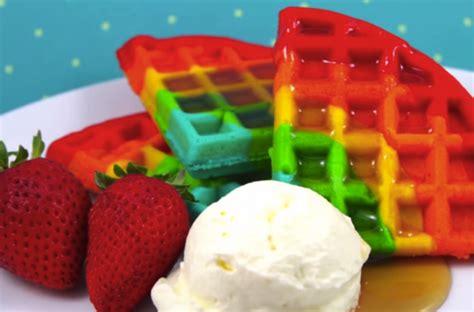 foodista awesome rainbow waffles