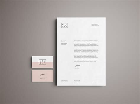 advanced branding stationery psd mockup