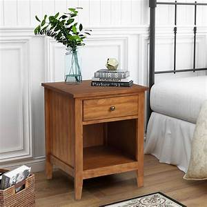 1, drawer, nightstand, solid, wood