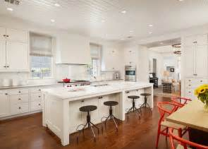 Country Cottage Dining Room Ideas by Beadboard Ceiling White Beadboard Ceiling Red Chevron