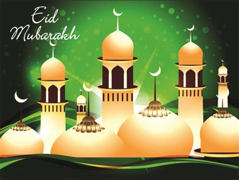 vector background eid mubarak islamic design