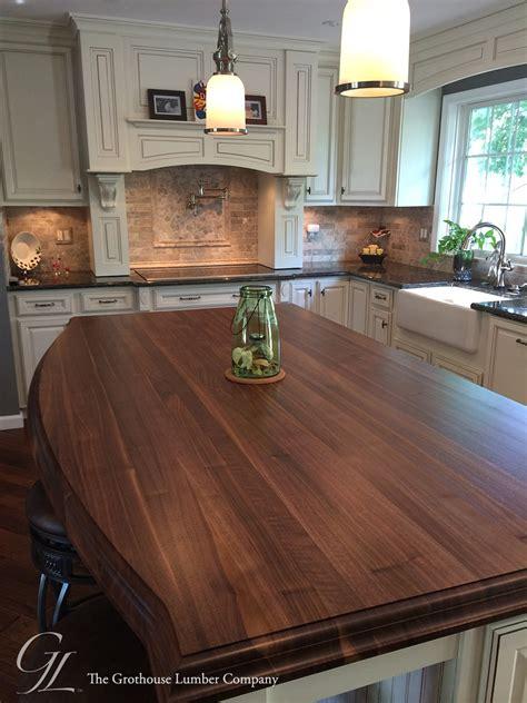 custom walnut kitchen island countertop  columbia maryland