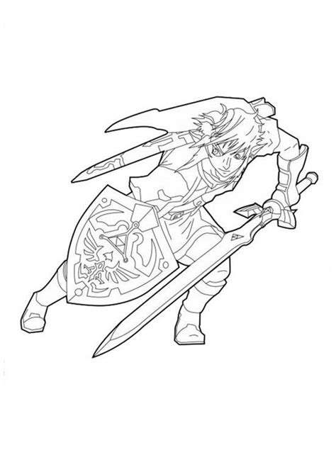 Printable Coloring Pages Link Zelda