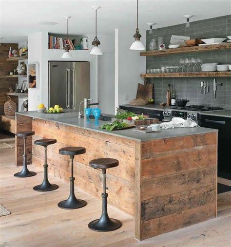 cuisine bois et fer découvrir la beauté de la cuisine ouverte