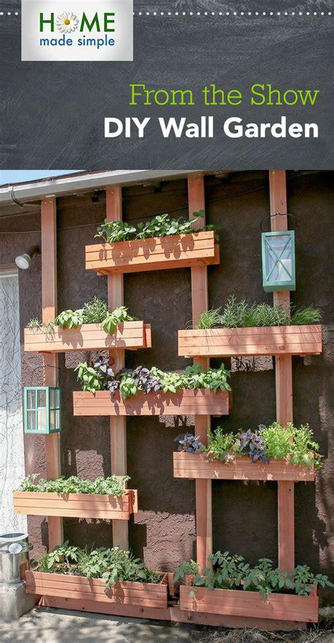 turn  outdoor wall   multitiered vertical garden