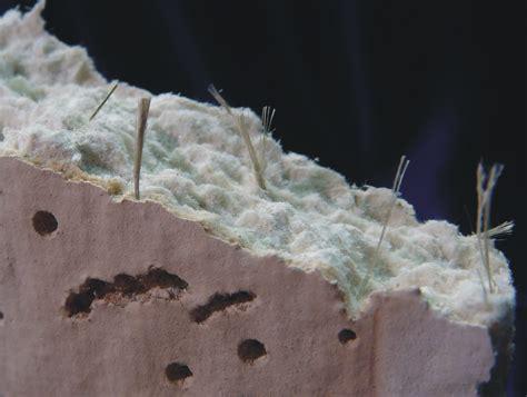 amosite fiber bundles  asbestos ceiling tile close