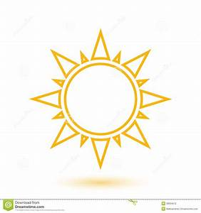 Simple Illustration Of Abstract Sun Stock Vector - Image ...