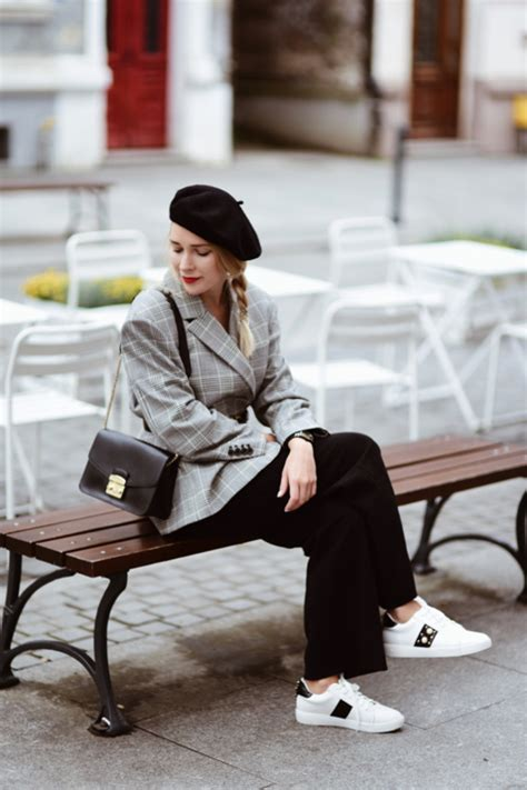 beret street style shiny syl blog