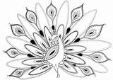 Peacock Coloring Butterfly Bird French Drawing Draw Printable Peacocks Felicity Mandala Felicityfrench sketch template