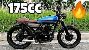 Kawasaki Barako 175 Into Classic Scrambler Style By Kustom Moto  Philippines