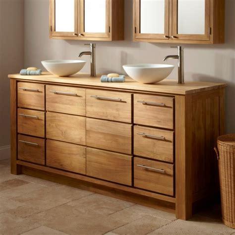Badezimmer Unterschrank Bambus by Waschbeckenunterschrank Aus Bambus Archzine Net
