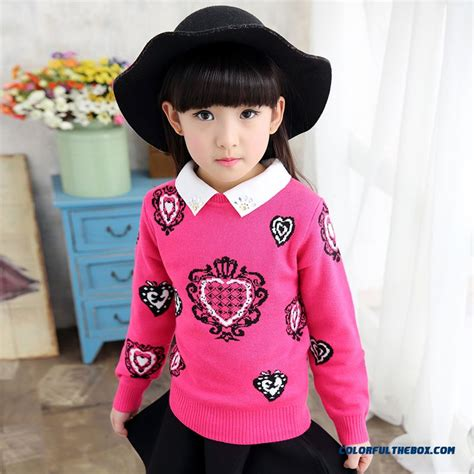 Cheap New Winter Pullover Round Neck Thick Sweater Girls