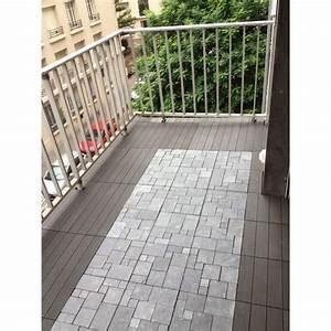 Dalle Terrasse Clipsable : dalle clipsable couleur gris dallage terrasse et jardin ~ Melissatoandfro.com Idées de Décoration
