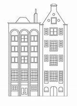 Coloring Buildings Pages Apartment Building Houses Simple Tall Apartments Printable Stylish Row Drawing Books Easy Adult Printables Visit Printcolorfun sketch template