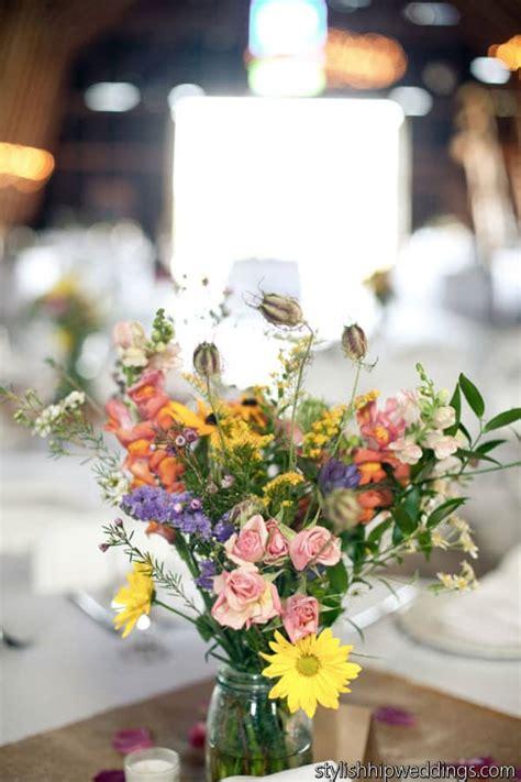 wildflower wedding centerpiece wholesale wedding flowers