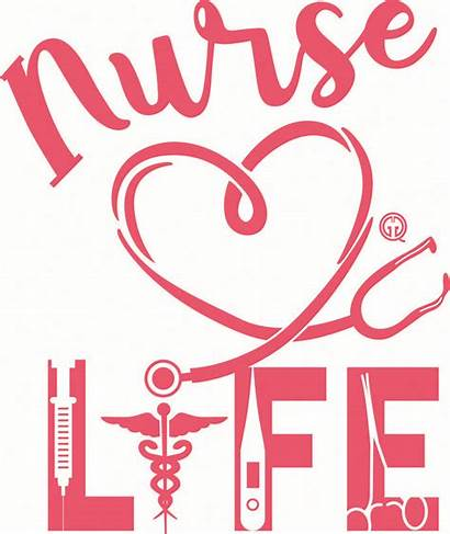 Nurse Svg Nursing Nurses Stethoscope Silhouette Heart