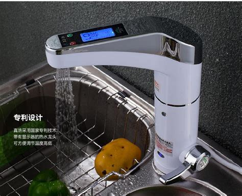 chauffe eau de cuisine intelligente lcd électrique robinet électrique chauffe eau