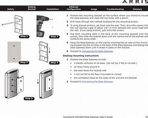 Arris Dg1670 Touchstone Data Gateway User Manual