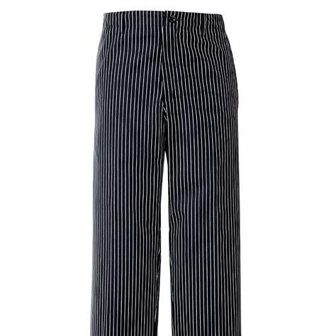pantalon de cuisine femme pantalon de cuisine rayures noir blanc 1 poche arrière