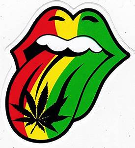 sticker g003 rasta cannabis the rolling stones music With kitchen colors with white cabinets with die cut sticker printing