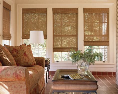 Blinds And Window Coverings by Woven Wood Shades Are A Fit In Any Room Bellagio