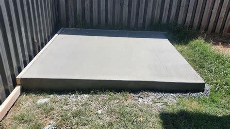 garden shed concrete slab lyle neuman concrete